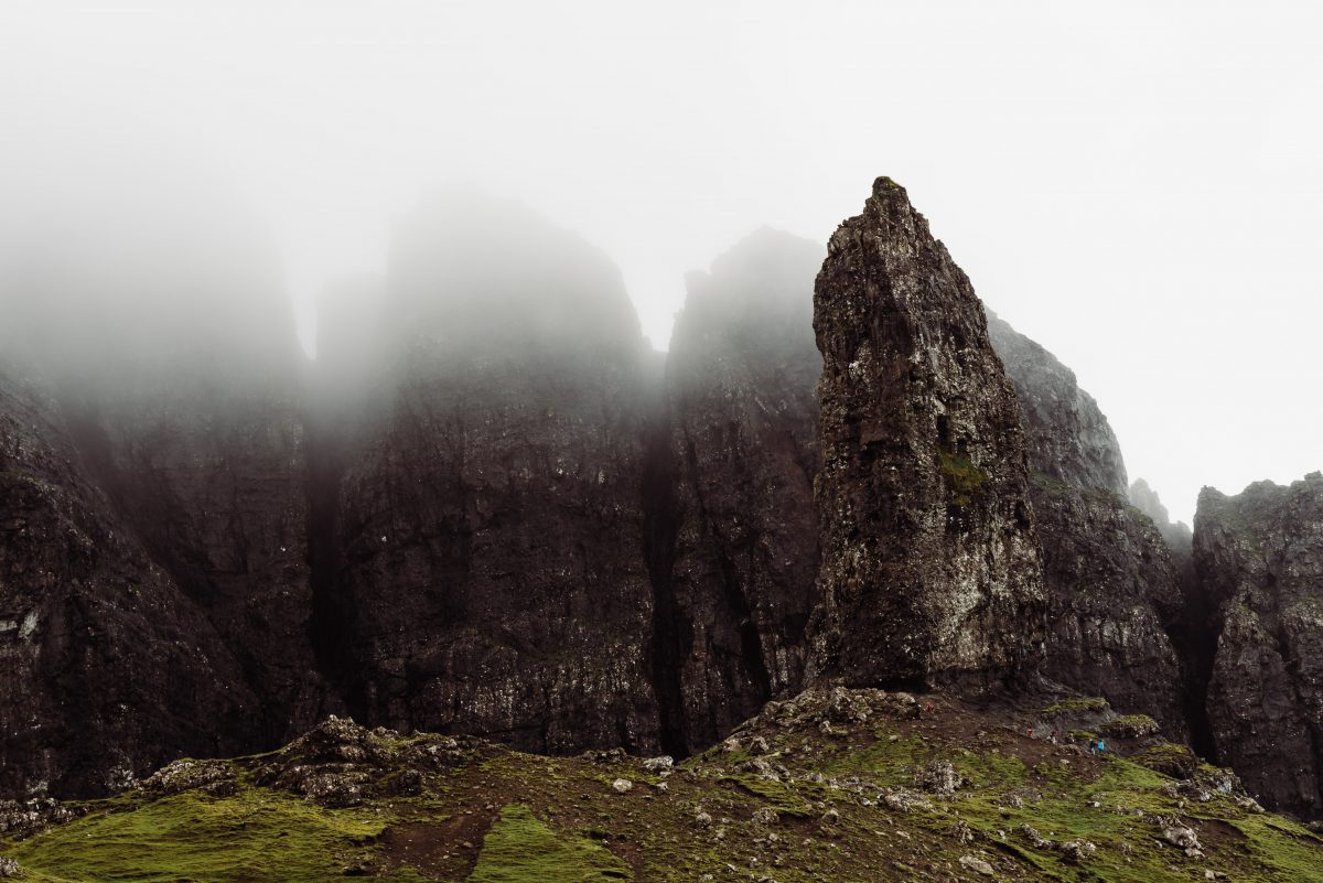 The Old Man of Storr on the Isle of Skye in Scotland for an adventurous elopement