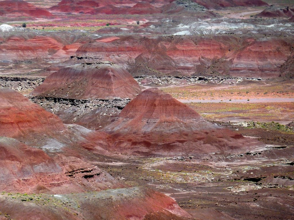 The Painted Desert is composed of colorful striped mounds, making this an incredibly unique backdrop for an elopement.